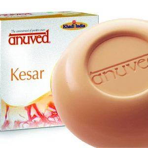 Anuved Kesar Soap, 125 Gm