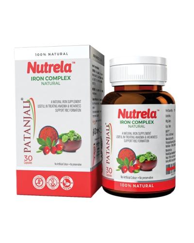 Patanjali Nutrela Iron Complex Natural, 30 Capsules