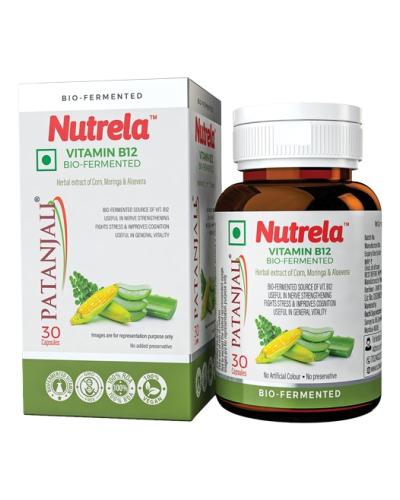 Patanjali Nutrela Vitamin B12 Bio-Fermented, 30 Capsules