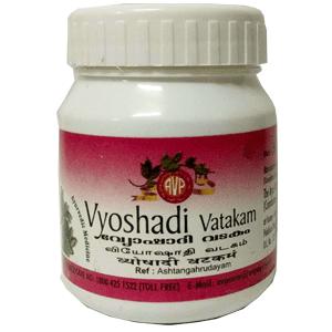 Arya Vaidya Pharmacy (AVP) Vyoshadi Vatakam, 50G